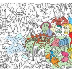 Poster USA géant à colorier - 100 x 70 cm