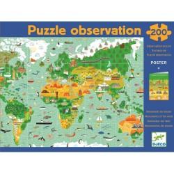 Puzzle Tour du monde Djeco - 200 pièces + Livret