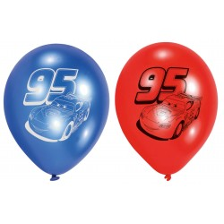6 ballons Cars en latex