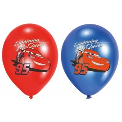 6 ballons latex Cars Disney 27,5 cm