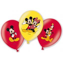 6 Ballons Mickey en couleur