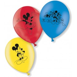 8 ballons en latex Mickey