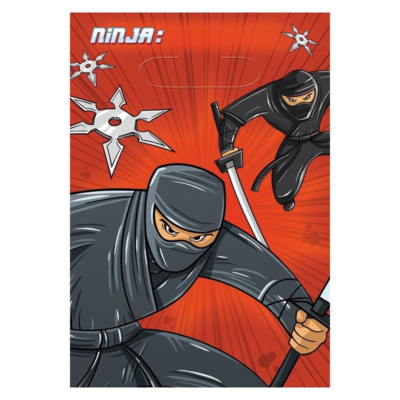 6 sacs cadeaux Ninja