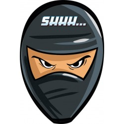 8 cartes d'invitation et enveloppes Ninja