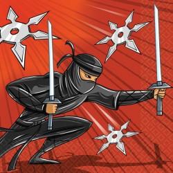 16 Serviettes en papier Ninja