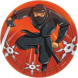 Assiettes en carton Ninja 17.7 cm