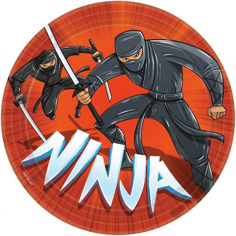 8 Assiettes Ninja 23 cm
