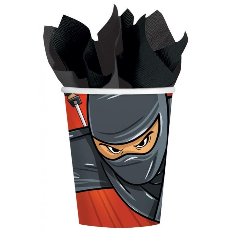 8 Gobelets carton Ninja
