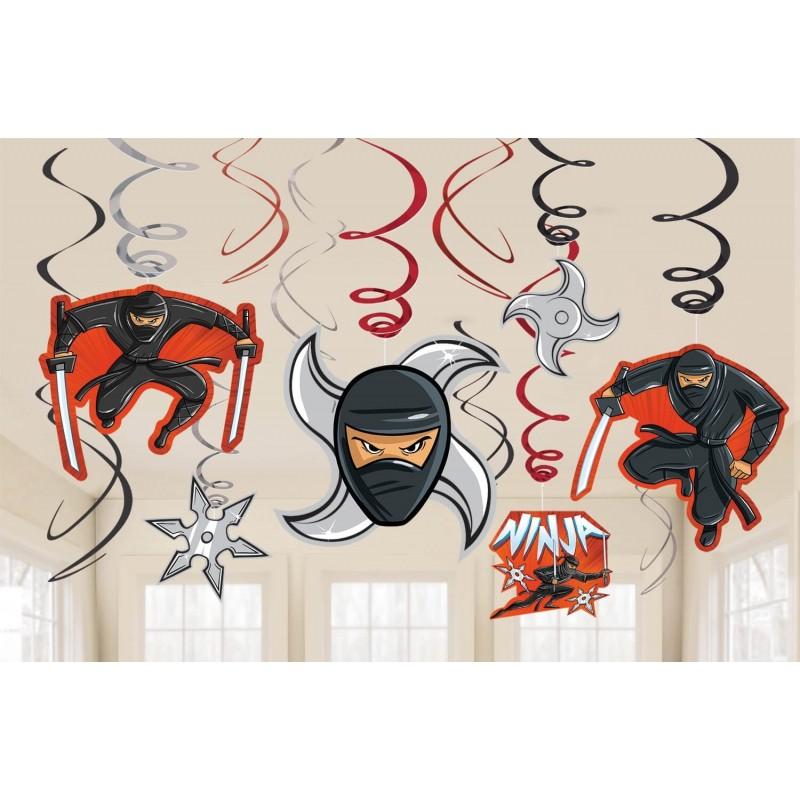 12 guirlandes Ninja à suspendre