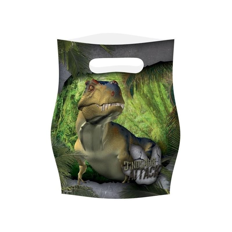 8 Sacs de fete Dinosaure T-REX