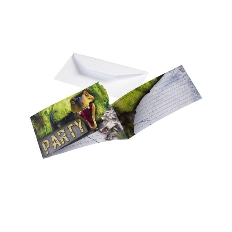 cartes d'invitations Dinosaure T-Rex