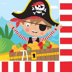 16 serviettes en papier Little Pirate