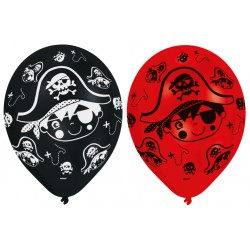 6 ballons d'anniversaire Little Pirate 27,5 cm