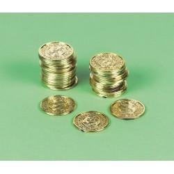 72 fausses pièces en or