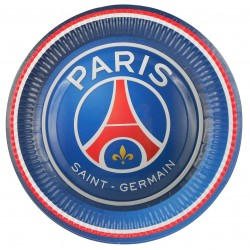 6 Assiettes PSG Football 23 cm