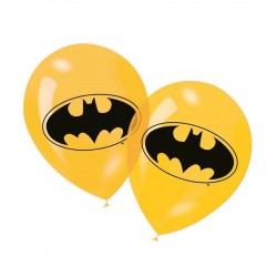 6 ballons en latex Batman