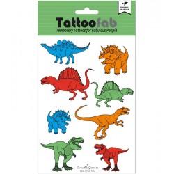 Tatouages éphémères Dinosaures