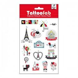 """Tatouages éphémères """" ça c'est Paris """""""