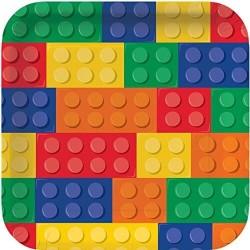 8 Assiettes anniversaire Lego