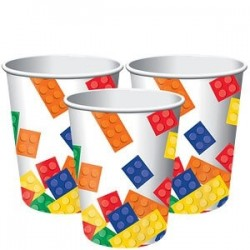 8 gobelets carton Lego