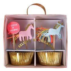 Kit cupcakes Licorne arc en ciel - Meri Meri