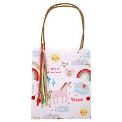 8 sacs cadeaux Licorne Meri Meri