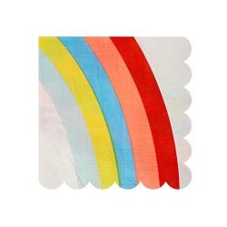 20 serviettes en papier Arc en ciel - Meri Meri