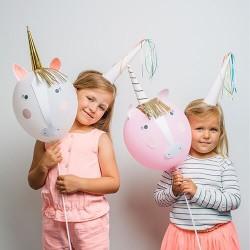 Kit 4 ballons Licorne à décorer - Meri Meri