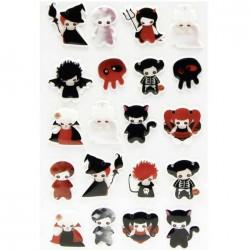 "Stickers Halloween "" petits démons """