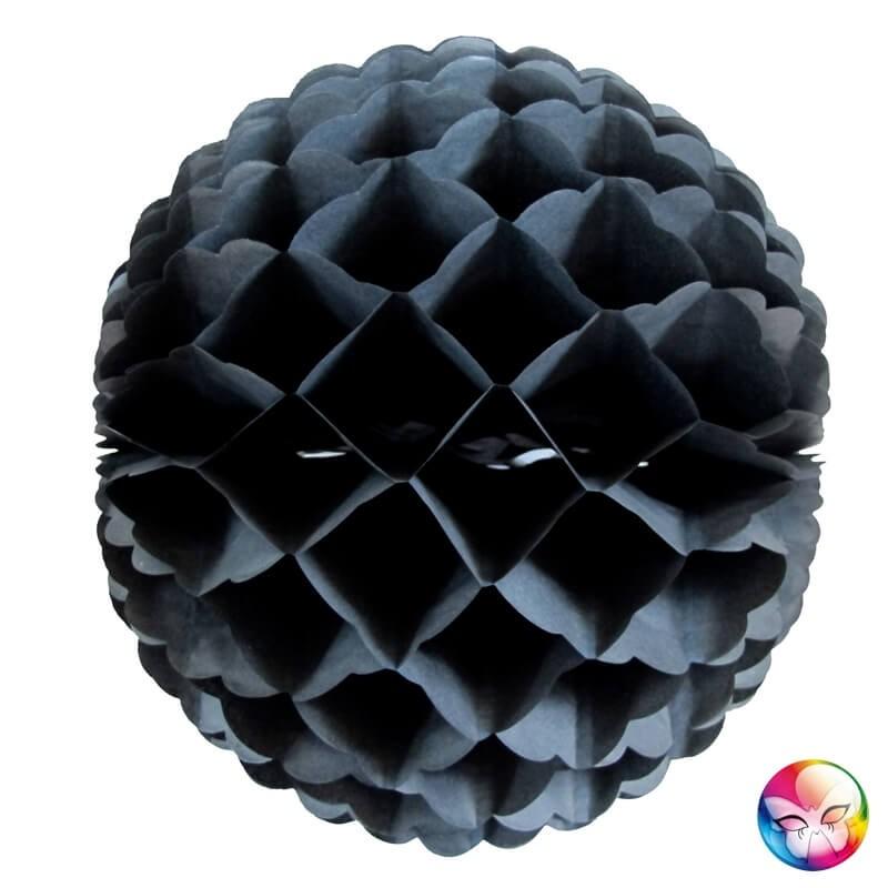Boule alvéolée noire 32 cm