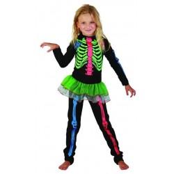 Déguisement squelette coloré fille 7 à 9 ans