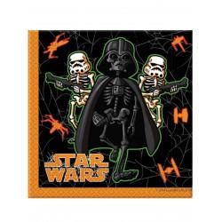 20 serviettes en papier Star Wars Halloween