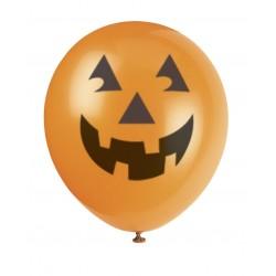 6 ballons citrouille - Halloween