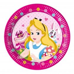 8 assiettes Alice au pays des merveilles