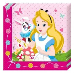 20 serviettes en papier Alice au pays des merveilles