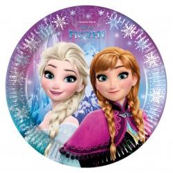 8 assiettes la Reine des neiges Fête magique