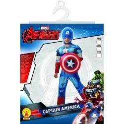Déguisement luxe Captain America - Taille 3-4 ans