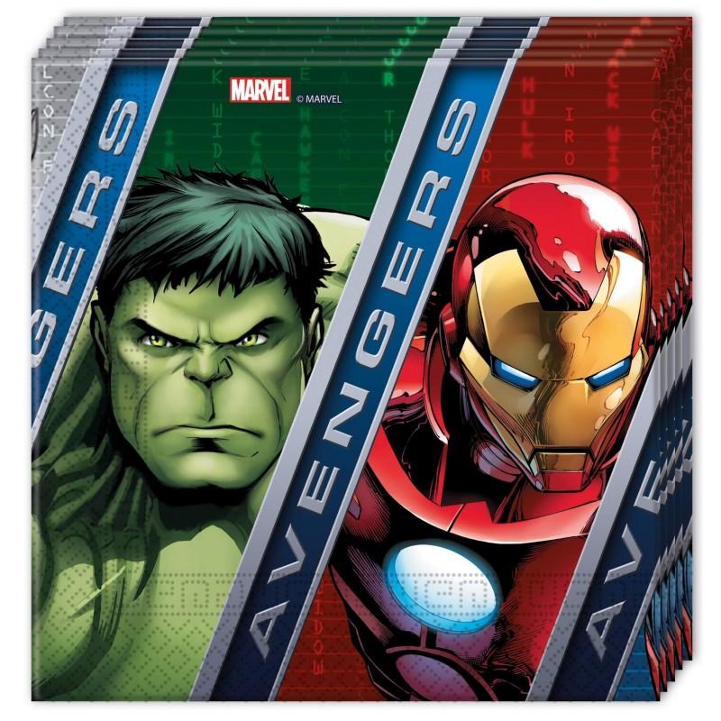 20 serviettes en papier Avengers Power