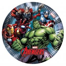 8 assiettes à dessert Avengers Power