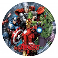 8 assiettes en carton Avengers Power