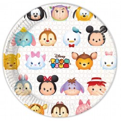8 assiettes en carton Tsum Tsum