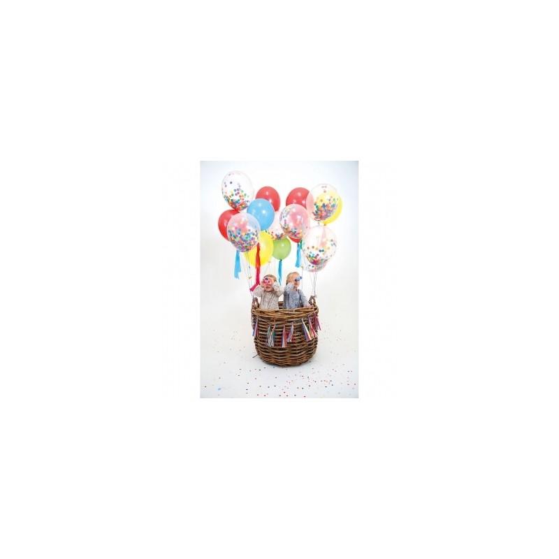 Kit création 8 ballons Confettis
