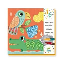 Coloriages Djeco - Motifs à frotter les amis de Magali