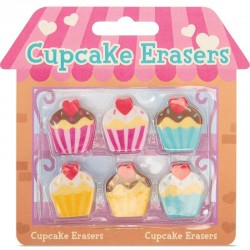 6 gommes cupcake