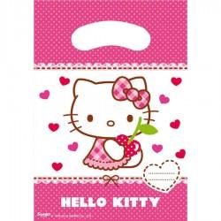 6 pochettes cadeaux Hello Kitty