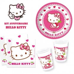 Kit anniversaire Hello Kitty