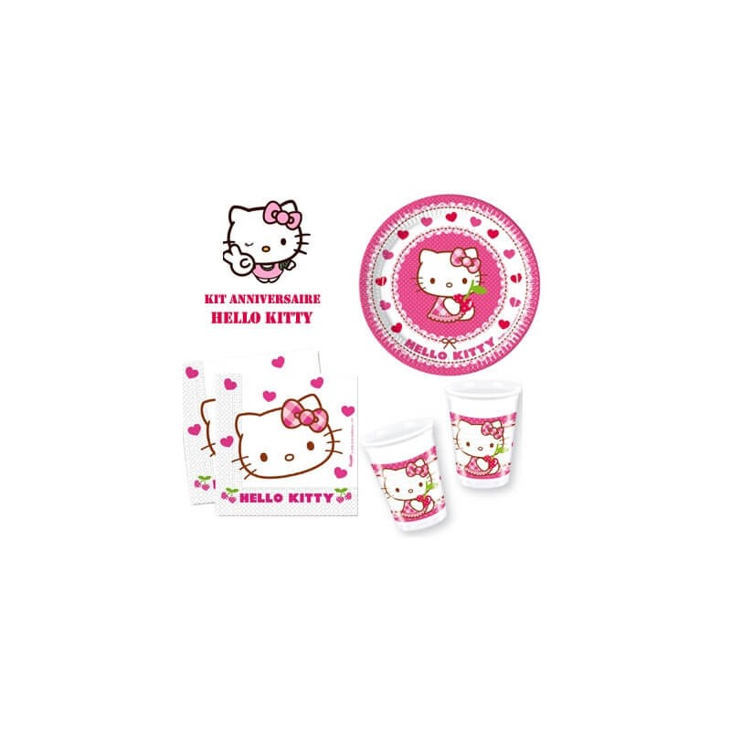 kit anniversaire hello kitty. Black Bedroom Furniture Sets. Home Design Ideas