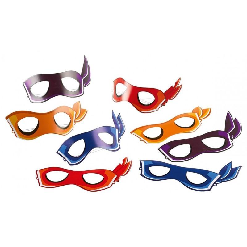 8 masques Tortue Ninja