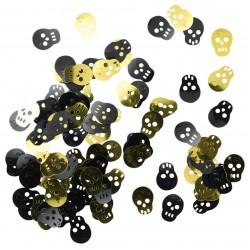 Confettis tete de mort pirate