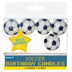 6 bougies d anniversaire Foot